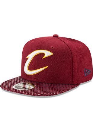 New Era Cleveland Cavaliers Maroon Multi Star 9FIFTY Snapback Hat ... 7b637693349