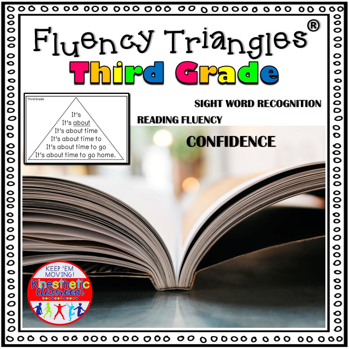Reading Fluency Triangles Third Grade Sight Words