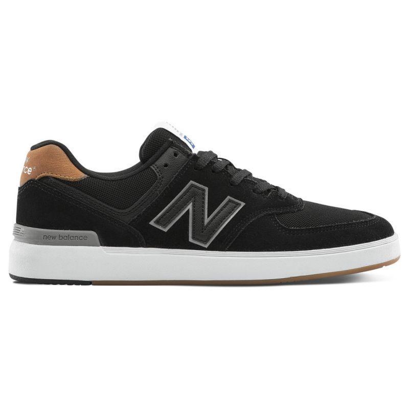 pasaporte blanco paz  New Balance 574 Shoes - Black / Brown | Black shoes, New balance ...
