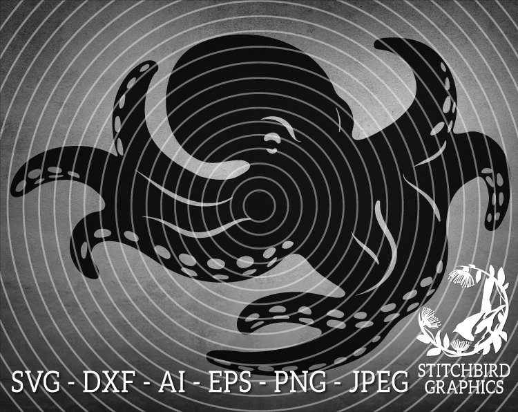 Octopus 2 SVG DXF, Instant Download, Vector Art