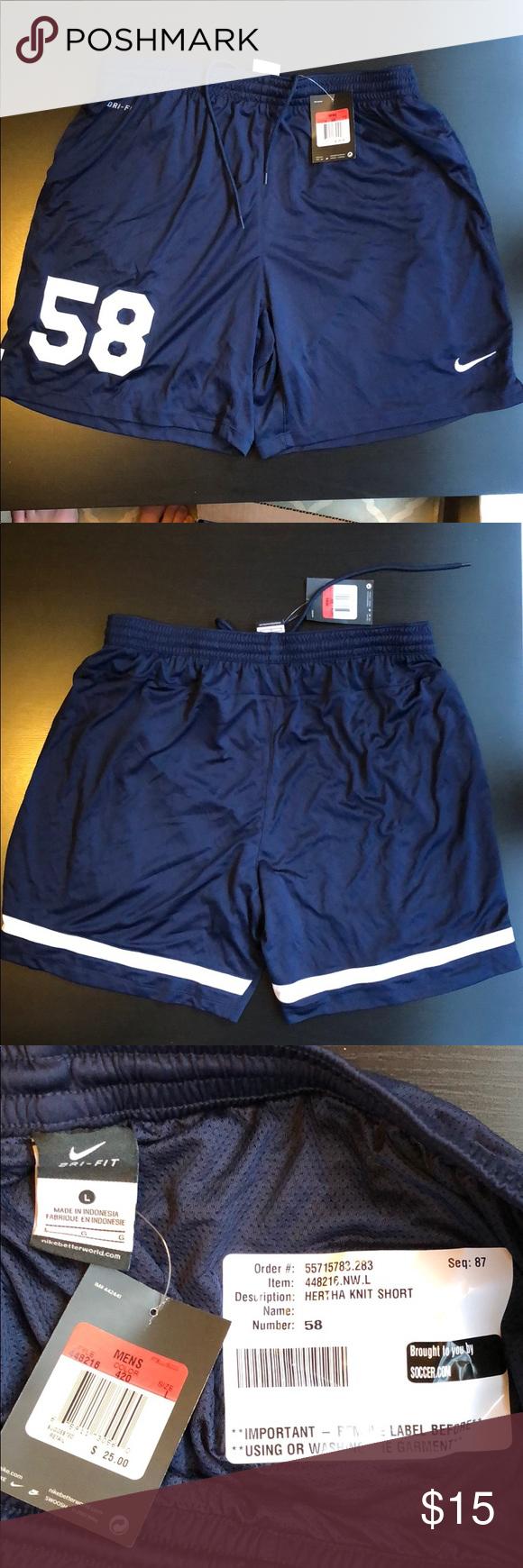 Nwt Nike Hertha Knit Short Navy 58 66 Sz L Xl Nwt Pinterest