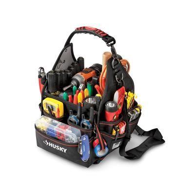husky - husky 10 inch electrician bag with driver wall - 88593n11 ...