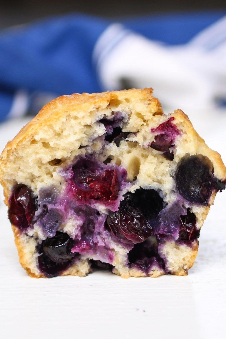 281 Recipe Tasty Banana Bread: Closeup View Of A Blueberry Muffin When The Blueberries