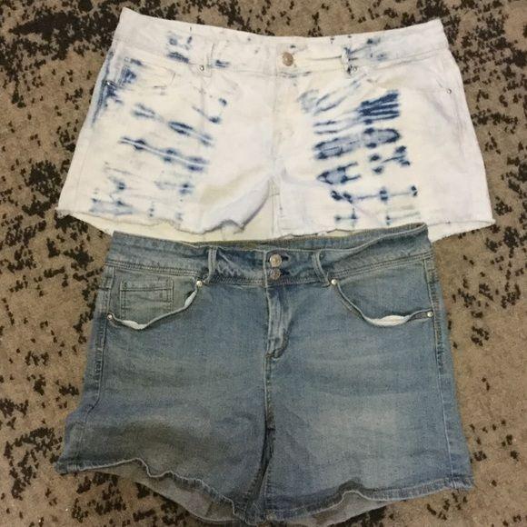 "Bundle Delia's Taylor Shorts Size 13/14 Excellent condition. Fringe colored shorts: inseam- 3"", rise- 8 1/2"", waist across front without dip- 17 1/2"". Denim shorts: inseam- 5"", rise- 8 1/2"", waist across front without a dip- 16 1/2"". Delia's Shorts Jean Shorts"