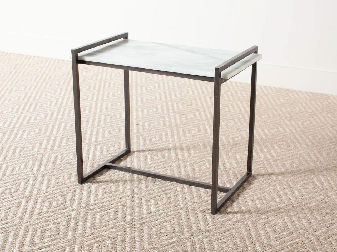Hollis Side Table Industrial Side Table White Side Tables Side Table