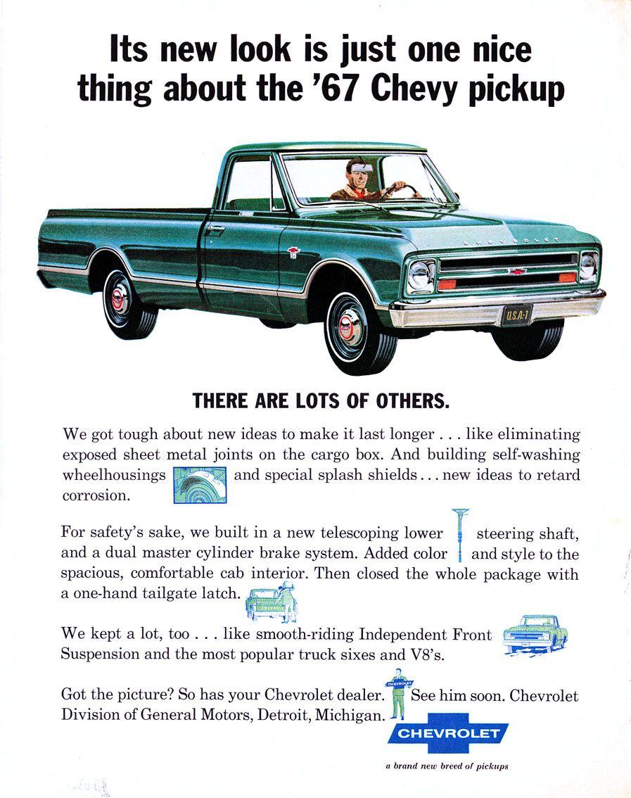 1967 Chevrolet Truck Ad 01 Trucks Print Chevrolet Trucks Chevy