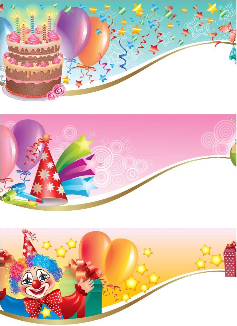Happy birthday banner vector free cosa bonitas