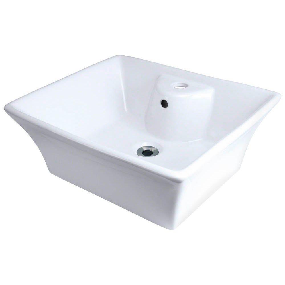 Polaris Sinks Porcelain Vessel Sink In White White Vessel Sink