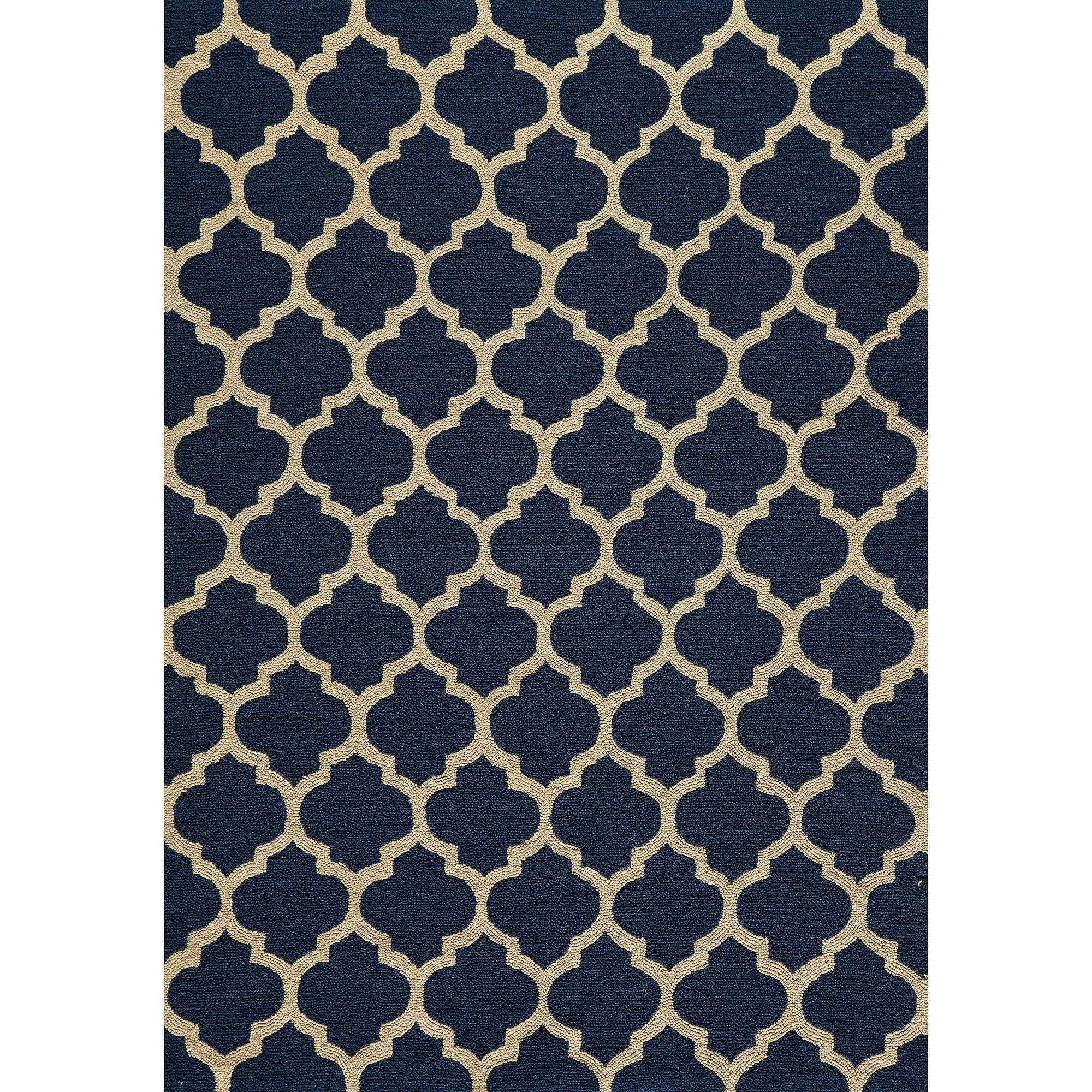 Simple Morocco Hand Tufted Rug Blue Hand Tufted Rugs Rugs