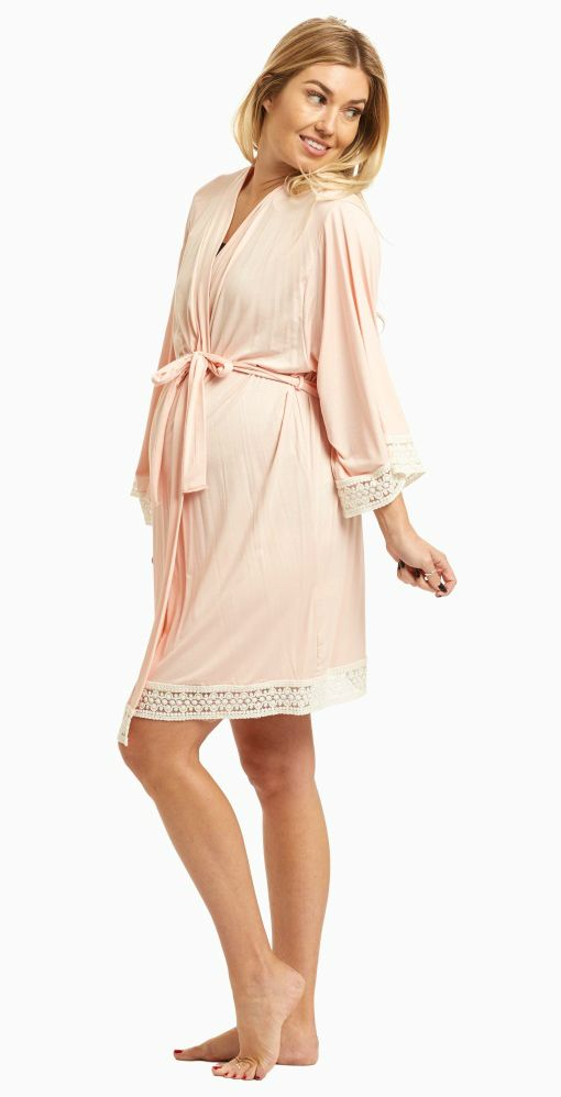821b601a3c63a This solid delivery/nursing maternity robe will make sure your visit during  and after the