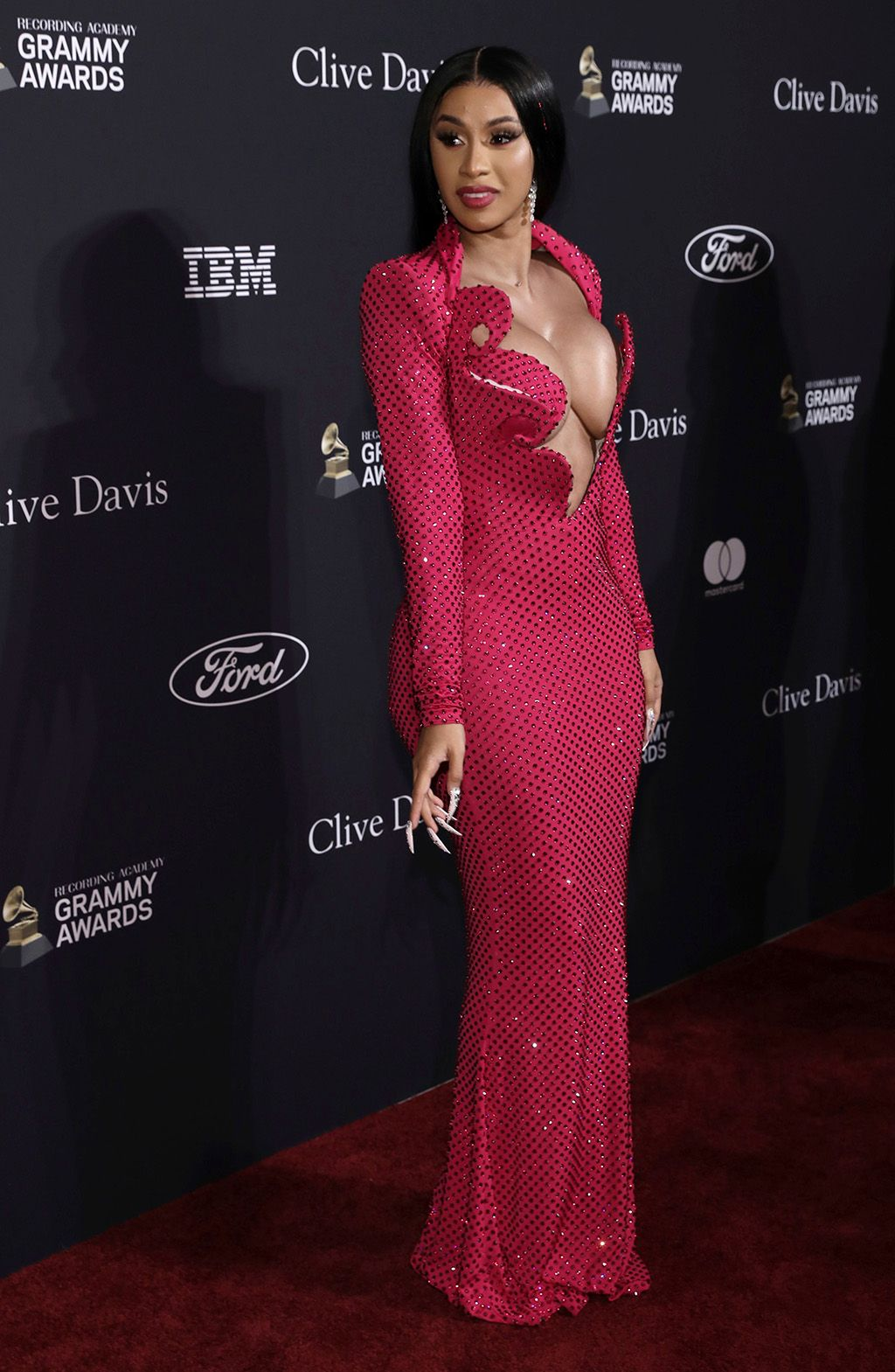 Cardi B Does Spring's Hot Pink Trend in an Arty Crystal