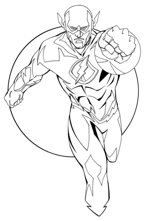 The Flash Coloring Pages Collection Superhero Coloring Pages Superhero Coloring Coloring Pages