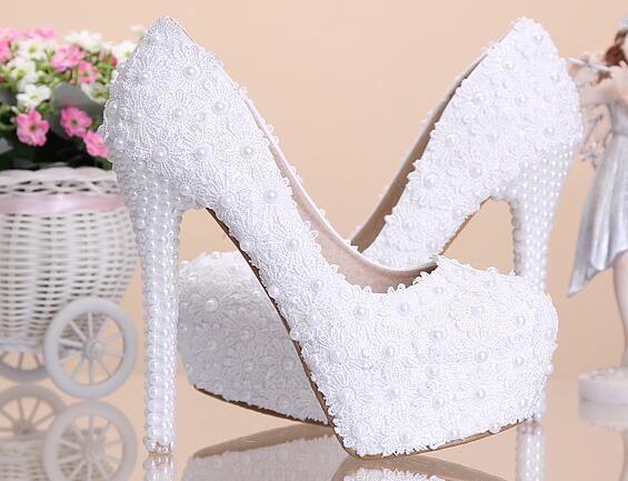 46a1553e4 Barato 8 cm/10 cm/12 cm/14 cm Mulheres Moda Branca Flor do Laço Doce ...