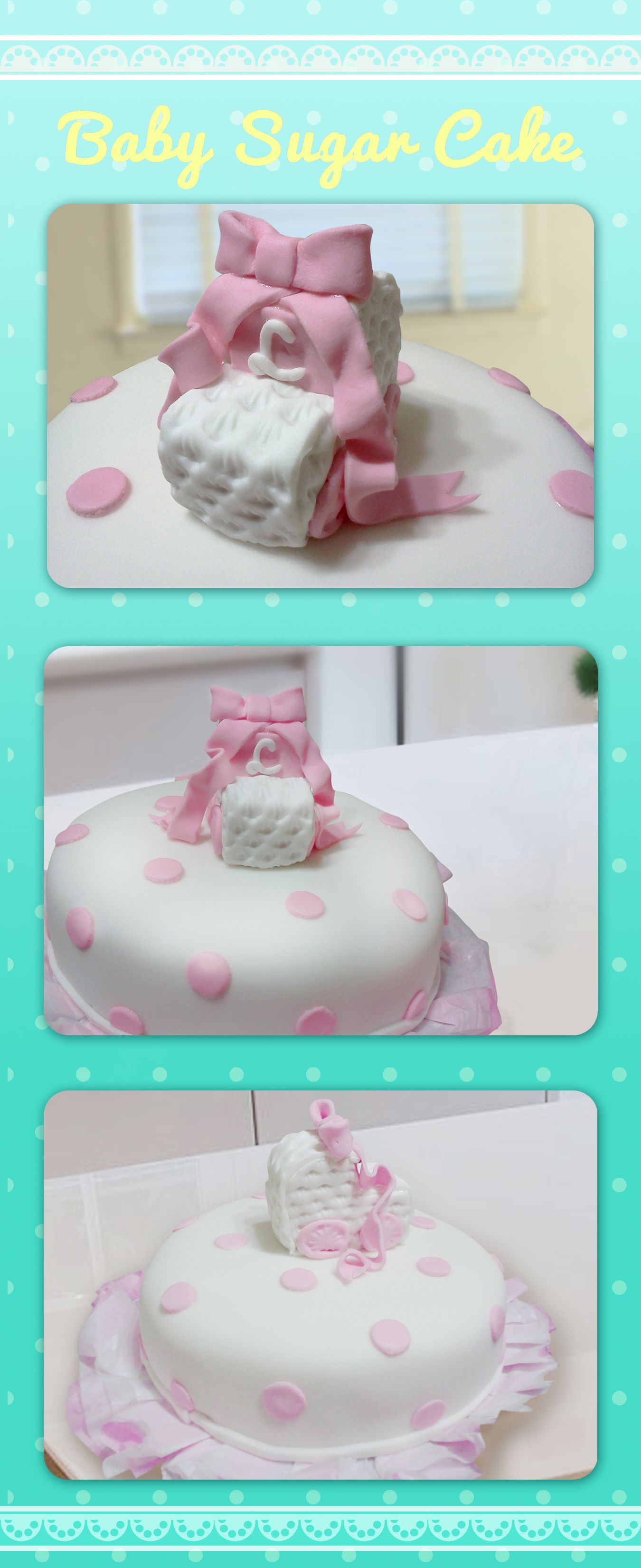 Baby sugar cake esta decoraci n fue para un bautizo de - Decoracion bebe nina ...
