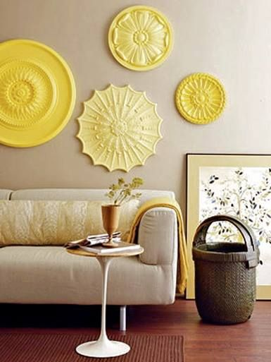 We love the painted ceiling medallions! What a great idea for ...