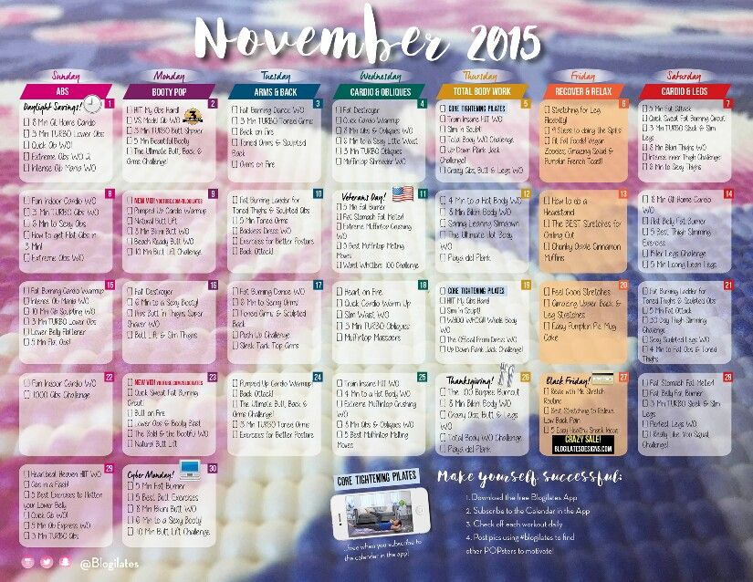 November Workout blogilates Pinterest Blogilates, Workout and