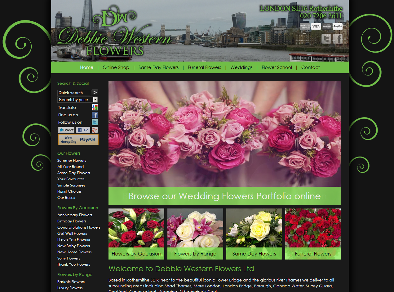 Debbie western flowers in rotherhithe se16 are now live www flower delivery debbie western rotherhithe florist shop send same day flowers bouquet funeral flowers wedding flowers izmirmasajfo Images