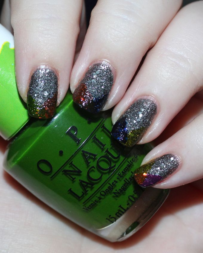 Super Easy Rainbow Tips Nail Art with OPI Color Paints in Landscape ...