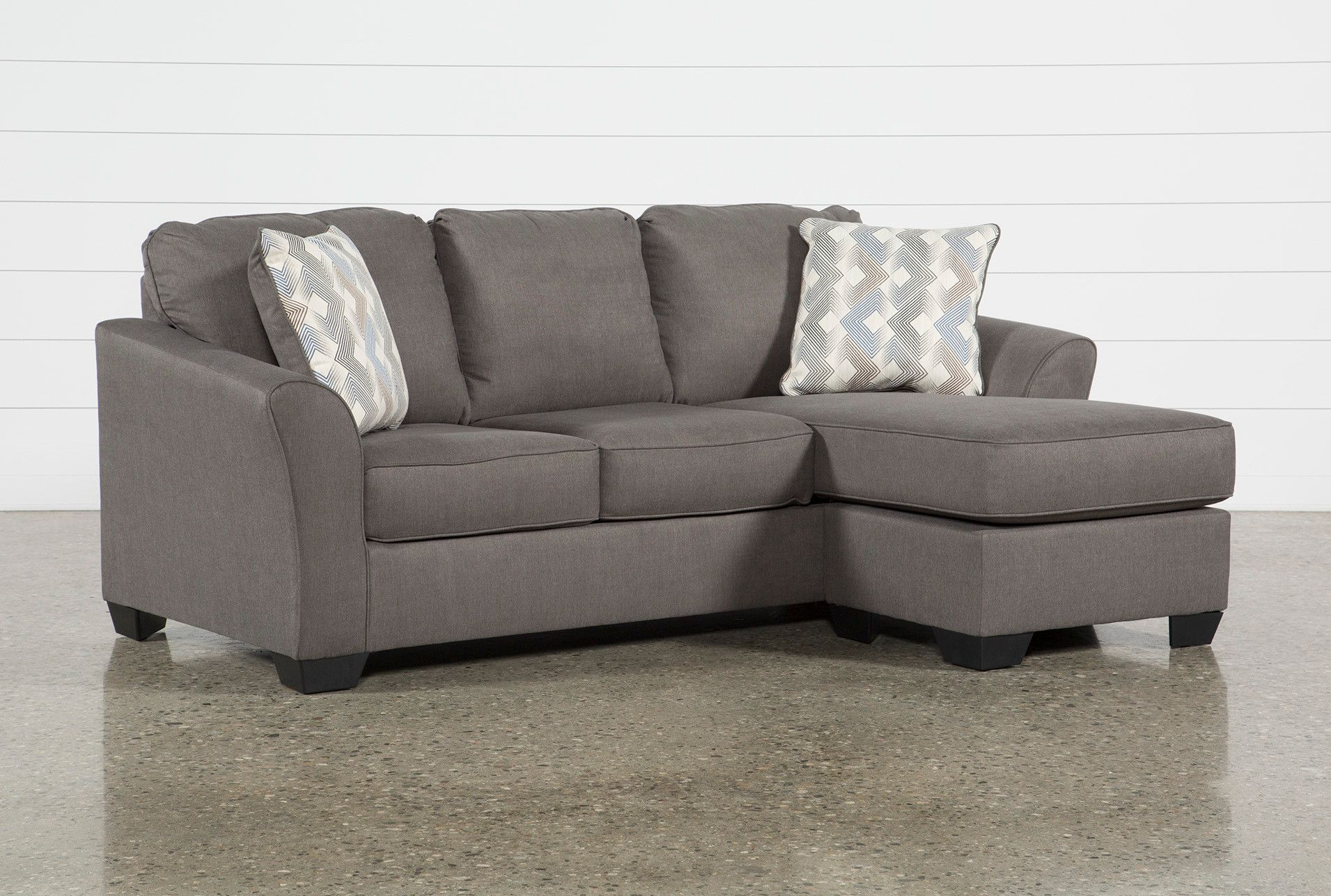 Ashley Tucker Sofa with Reversible Chaise - Grey - $495 ...