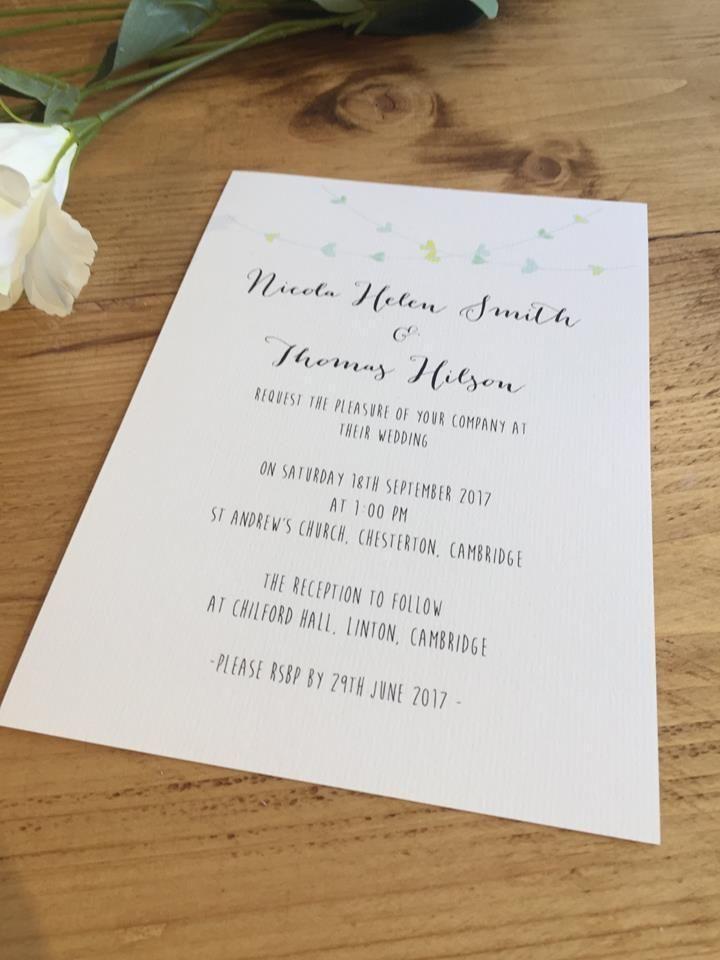 Ava Sample Set Shabby Chic Personalised Wedding Invitation Evening ...