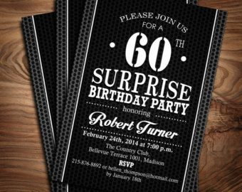 Surprise 60th birthday invitation 30th 40th 50th 60th 70th 80th surprise 60th birthday invitation 30th 40th 50th 60th 70th 80th 90th digital printable invitation filmwisefo Gallery