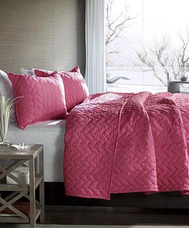 Look what I found on #zulily! Pink Nya Quilt Set #zulilyfinds. $69.99. F/Q