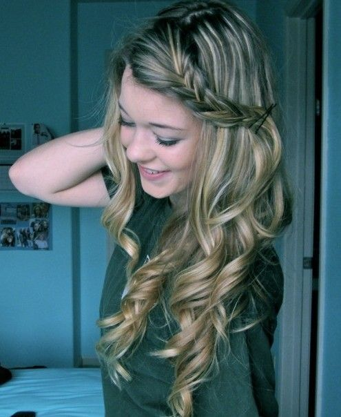 Surprising 1000 Images About Homecoming Hair On Pinterest Updo Long Curly Hairstyle Inspiration Daily Dogsangcom
