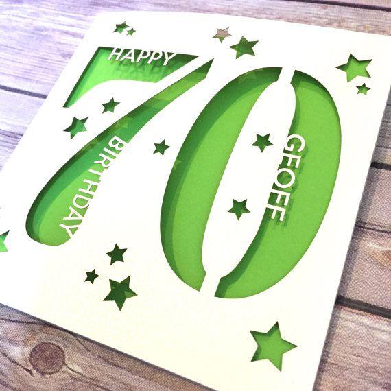 Personalised 70th Birthday Card Dad 70th Card Mum 70th Card