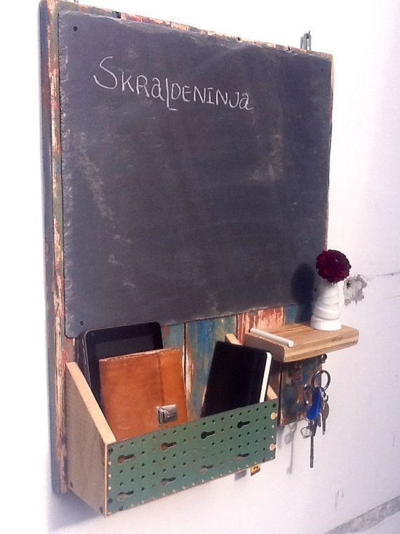 slate chalkboard key board organizer rustic schl sselbrett kasten pinterest. Black Bedroom Furniture Sets. Home Design Ideas