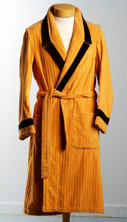 65596b43b8de0 SOLD-Vintage 70s Mens Gold Bath Robe Terry Cloth by StyleandSalvage, $40.00