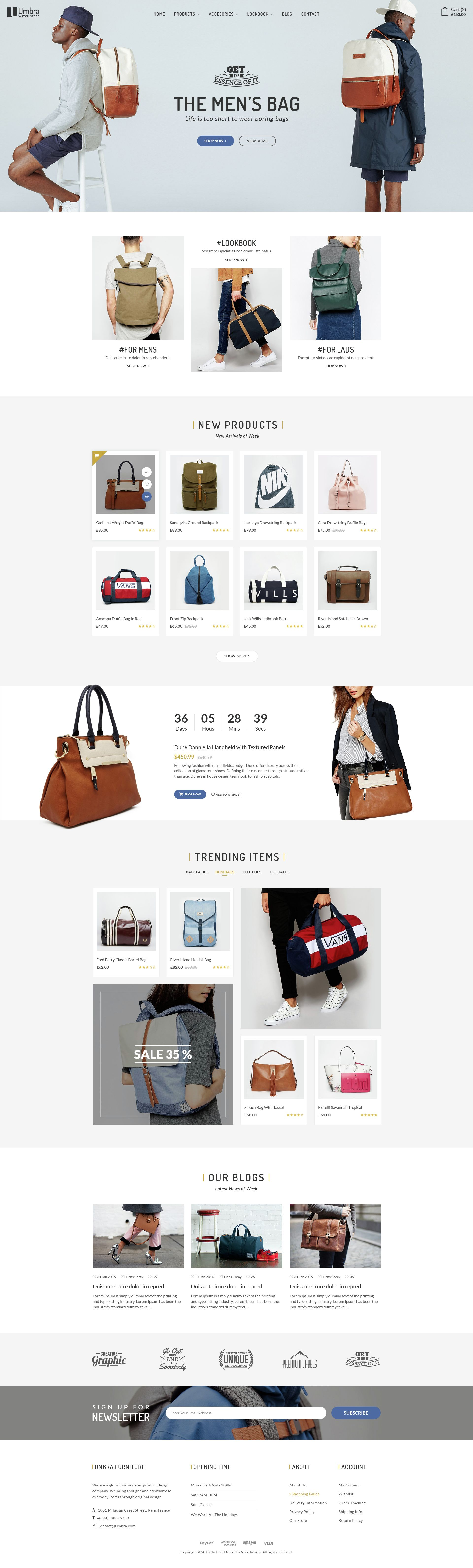 Umbra - Multi Concept eCommerce PSD Template | Psd templates ...