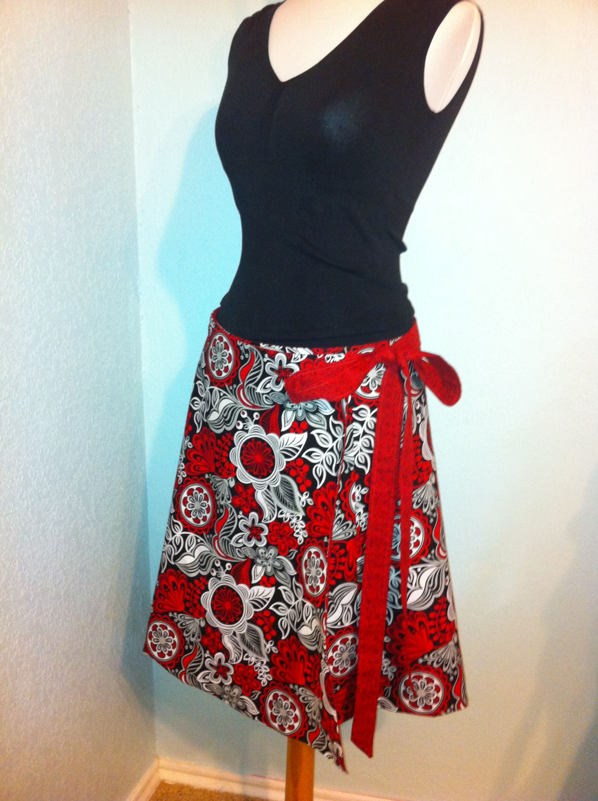 Super Easy Wrap Around Skirt Easy Sewing Patterns