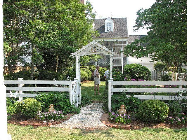 Gate and back of residence. Home Garden Tour. Zimmerman Harper Lane ...