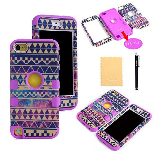 TIANLI(TM) New Tribe Design Hard Inner Shell with Soft Silicone Skin Case for Apple ipod touch 5th Generation+[Screen Protector]+[Free Stylus]+[Cleaning Cloth] Purple TIANLI(TM) http://www.amazon.ca/dp/B00MGBKBD2/ref=cm_sw_r_pi_dp_y32Lub1SJQRF9 - such an awesome case