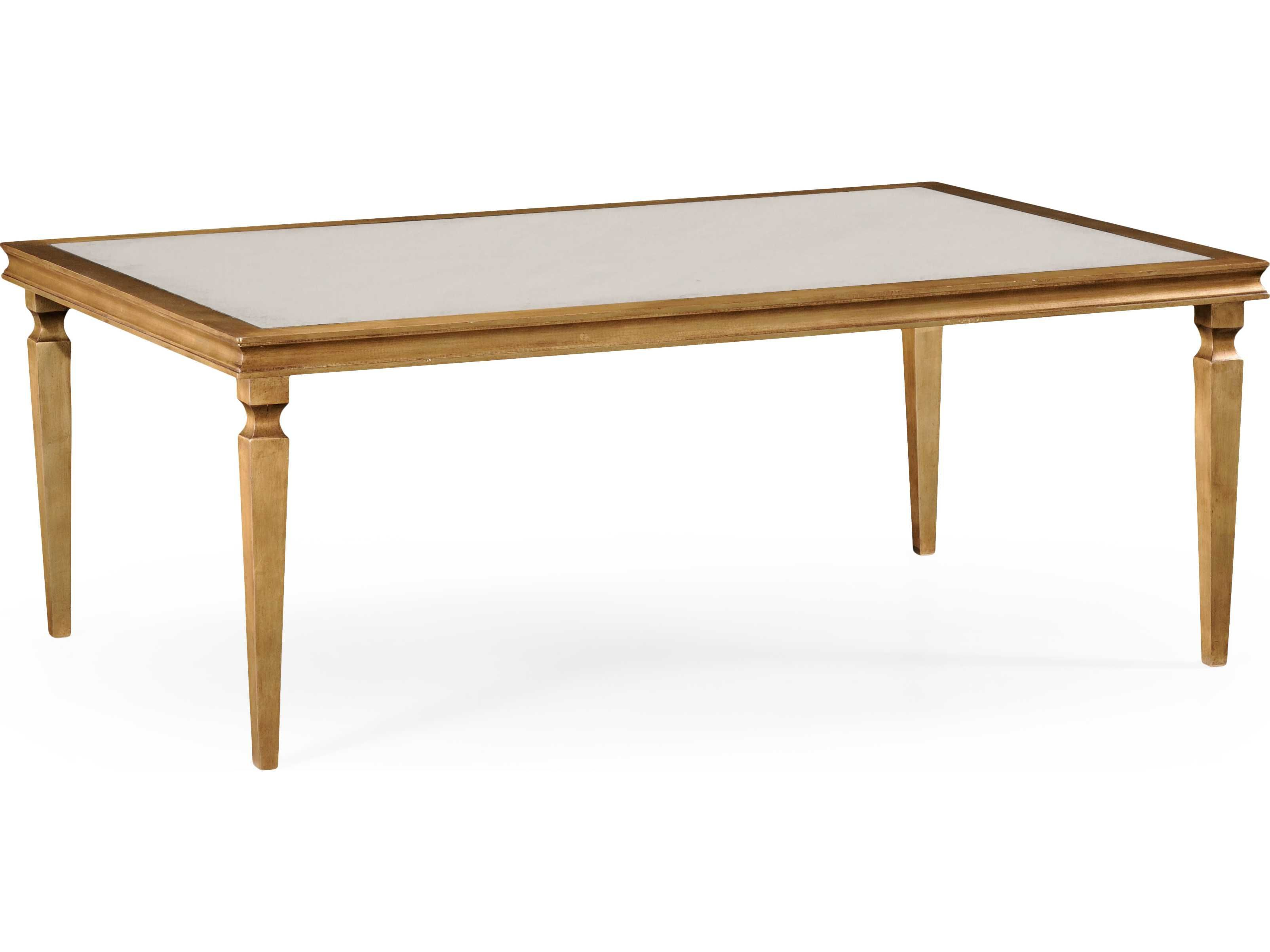 Jonathan Charles Luxe Gilded Iron 54 X 36 Rectangular Coffee Table Coffee Table Iron Coffee Table Table