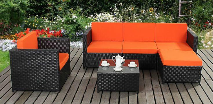 Garden Furniture Black contemporary black rattan garden furniture   paving and driveways
