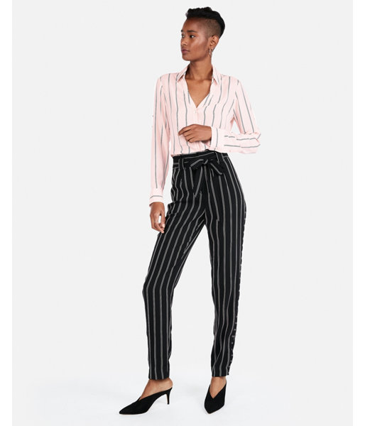 787c48662a5a1 Slim Fit Striped Covered Button Portofino Shirt Pink Women s L ...