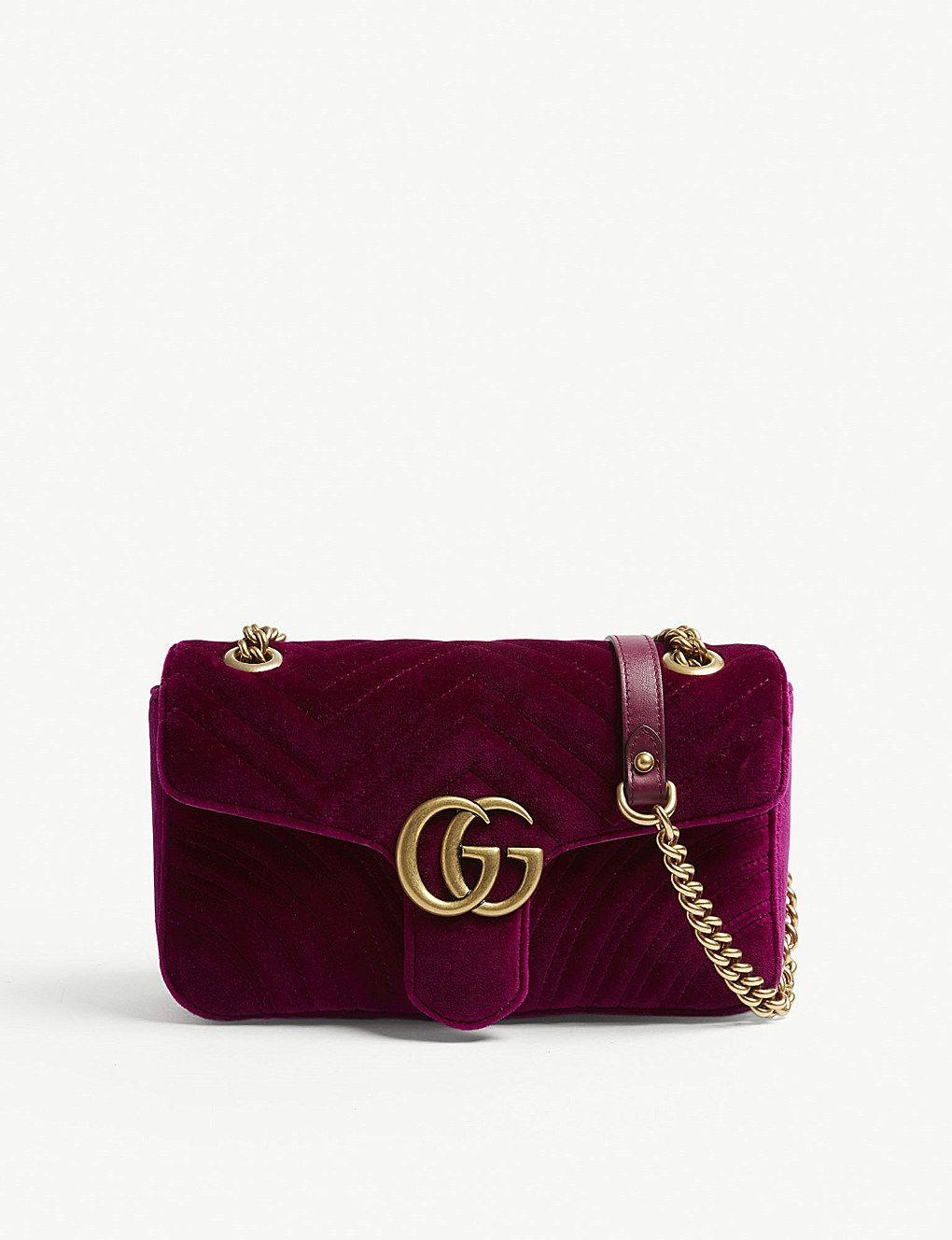GUCCI - Marmont small velvet shoulder bag  b69d8c5a6c987