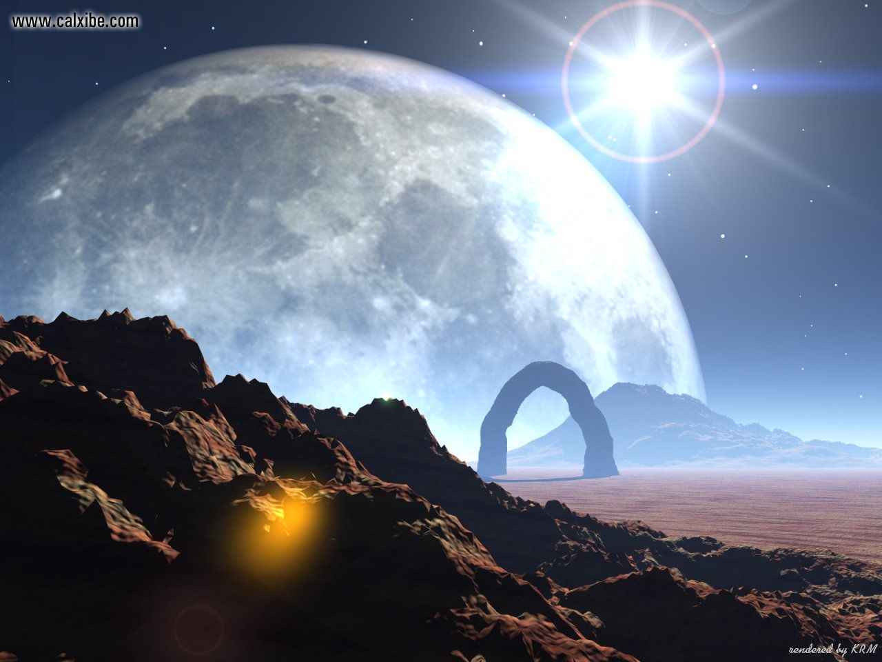 Alien Landscape Wallpaper