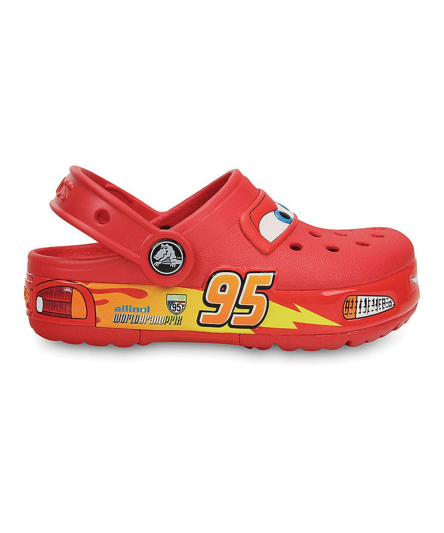 Look at this Crocs Cars Lightning McQueen CrocsLights Clog on #zulily today!  sc 1 st  Pinterest & Look at this Crocs Cars Lightning McQueen CrocsLights Clog on ... azcodes.com