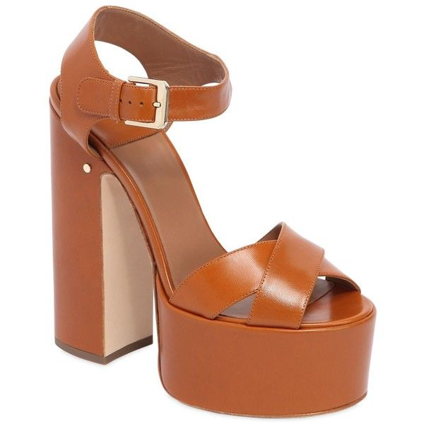 LAURENCE DACADE 150MM ROSELLA LEATHER PLATFORM SANDALS
