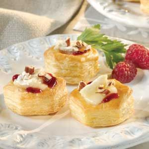 Baked Brie Cups - Puff Pastry