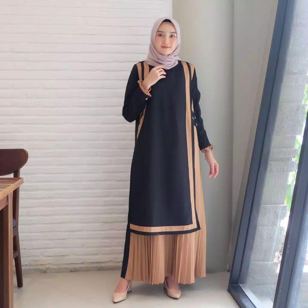 Gamis Modern Remaja Simple di 8  Model pakaian muslim, Model