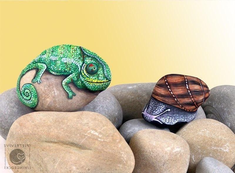 Рисунки... Роспись морских камней