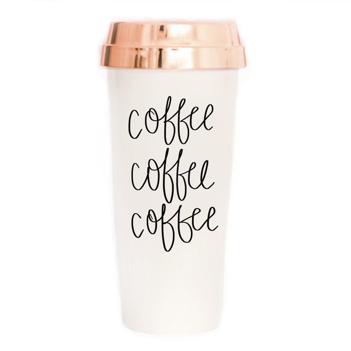 Travel Mug Coffee Tea Calligraphy