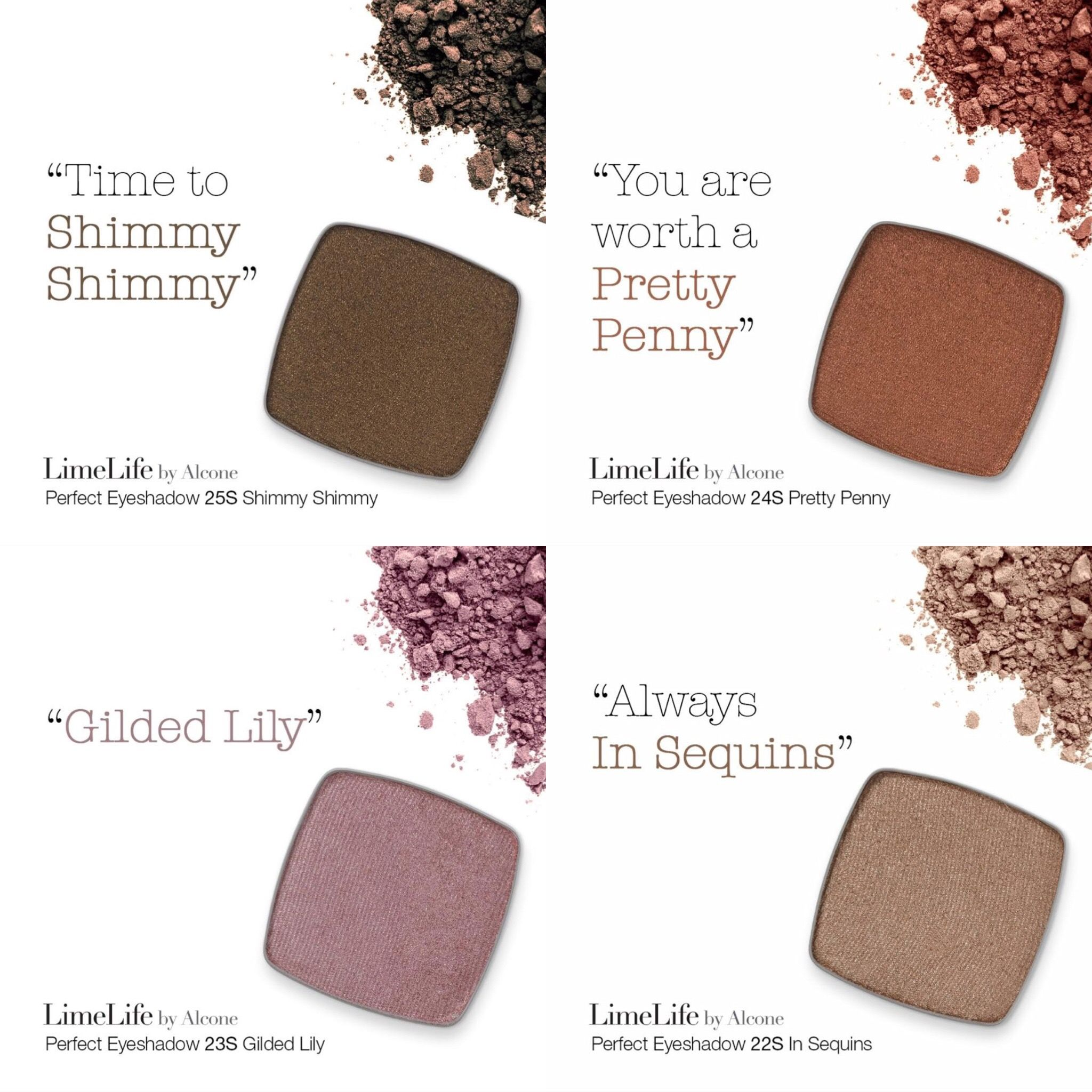 New Limelife by Alcone eye shadow colors. Still same