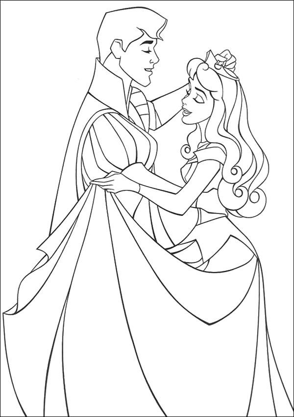 Aurora Dance With Prince Coloring Pages Sleeping Beauty Coloring Pages Princess Coloring Pages Disney Coloring Pages