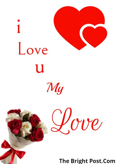 I Love You my Love Image For Facebook status