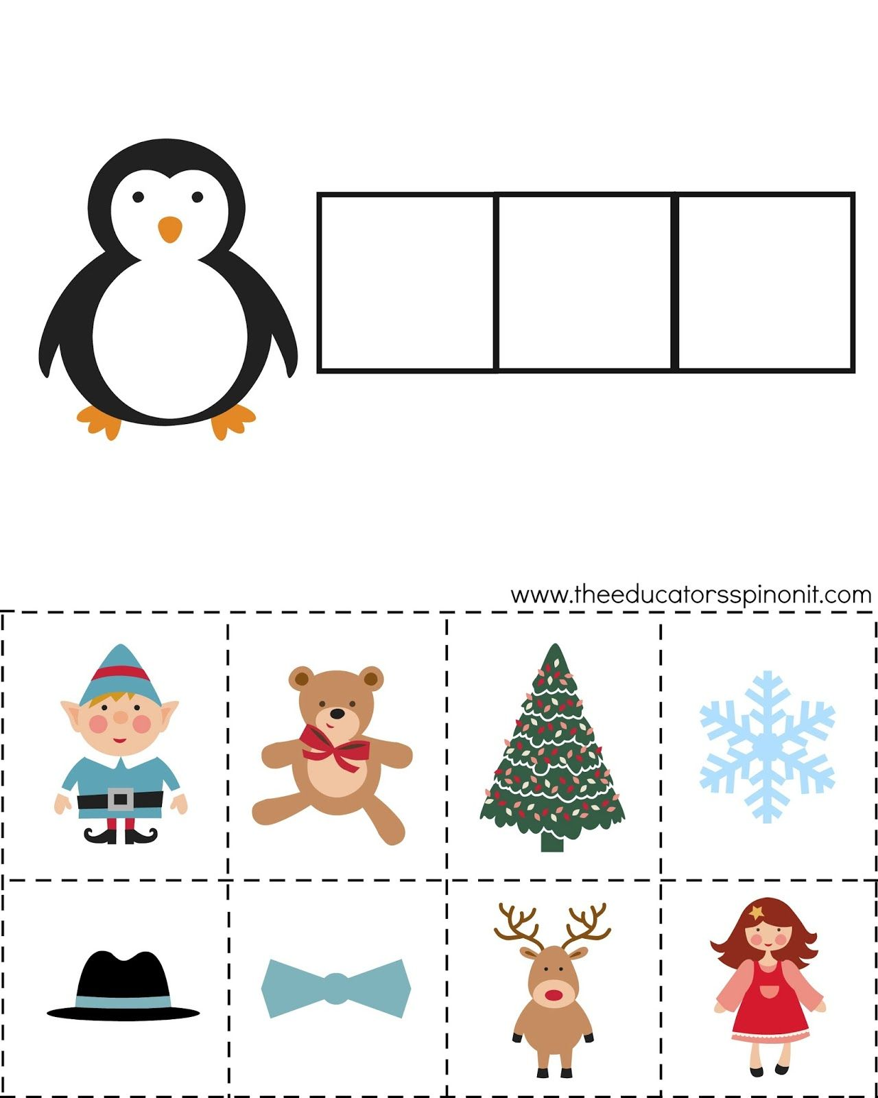 Worksheets Phonemic Awareness Worksheets For Kindergarten christmas activities for kids phonemic awareness busy bag bag