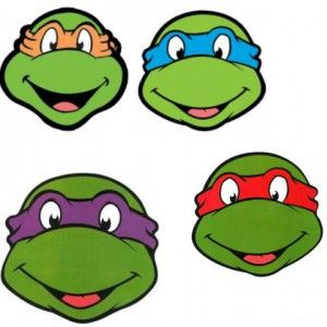 Masque tortues ninja carton paper masquerade tortues - Dessin anime ninja ...